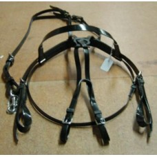 Bridle Work/Mouthing & Overcheck  Black